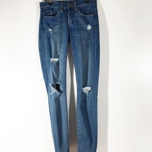 Blank NYC Distressed Skinny Jeans Size 25